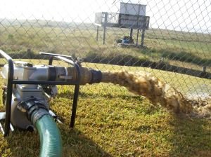 Sand & Sediment being pumped